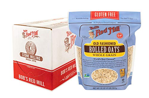 Bob's Red Mill Gluten Free Old Fashion Rolled Oats, 32-ounce (Pack of 4)