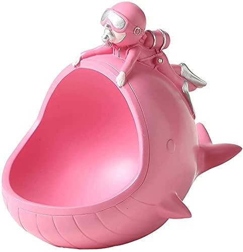 GJPSXTY Cuenco De Llave para Entrada, Bandeja Decorativa Creativa del Organizador De La Joyería del Reloj De La Llave del Cuenco del Porche, Bandeja Vaciabolsillos Recibidor Moderno Pink