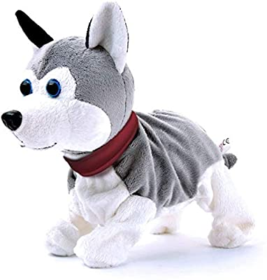 Sound Control Electronic Dogs Interactive Electronic Pets Robot Dog Bark Stand Walk Toy Dog For Children Christmas (Brown)