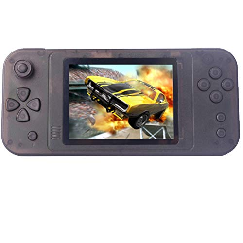 Great Boy Handheld Game Console for Kids Adults, Built-in 1015 Retro Video Games and Support TF Card Download Save Progress Rechargeable 3.5 Inches HD Screen Birthday Xmas Gift (Transparent Black)