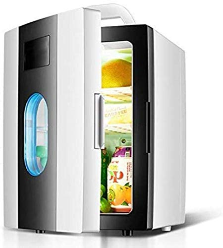 RTRD Mini Frigorífico 10L Coche pequeño refrigerador, Mini Puerta Mini Calefacción y Caja de refrigeración para Dormitorio Doméstico, Portátil, Negro (Color: Verde)