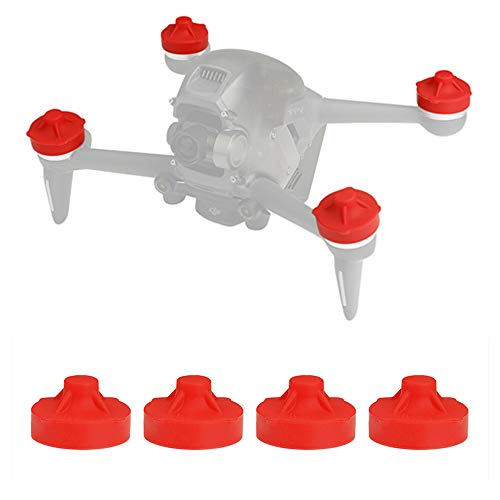 Honlyn Silicone Motor Cover Cap Guard Protector Compatible with DJI FPV Drone(Red)