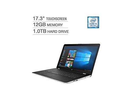 "HP 17 17.3"" Touchscreen WLED-backlit HD+ Laptop Computer, Intel Quad-Core i5-8250U (Beat i7-7500U)up to 3.40GHz, 12GB DDR4, 1TB HDD, AMD Radeon 530, DVD, USB 3.1, HDMI, 802.11ac, Bluetooth, Windows 10"