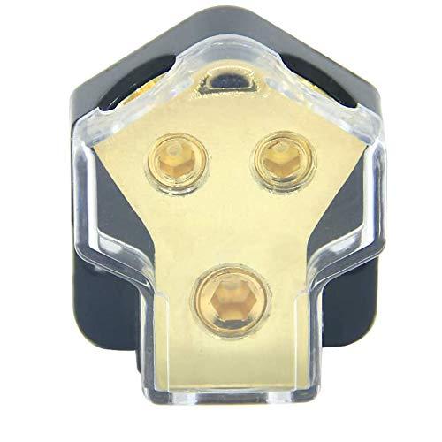 KCT 0/2/4 Gauge in 4/8 Gauge Out 2 Way Amp Power Distribution Block for Car Audio Splitter