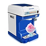 Ice Crusher Shaved Ice Machine,Electric Automatic Ice Crusher,Home&Commercial Use Snow Cone...