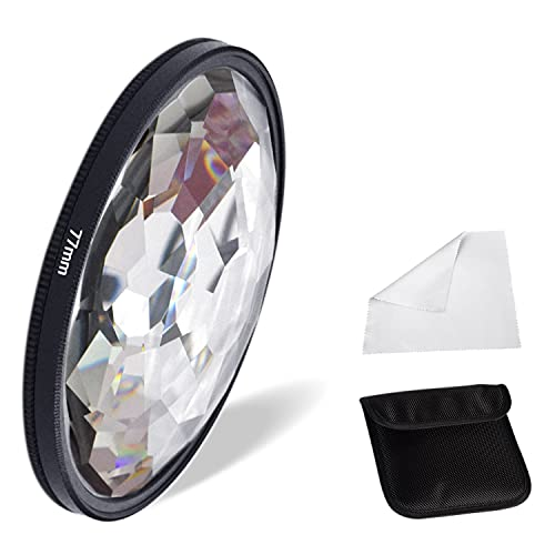 Fotoconic 77mm Kaleidoscope Glass Prism Camera Lens Filter Variable Number of Subjects SLR Photography Accessories