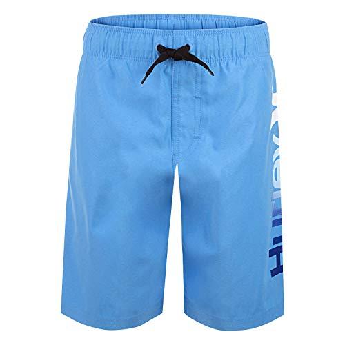Hurley Boys' Big Pull On Board Shorts, Blue/Multi, L
