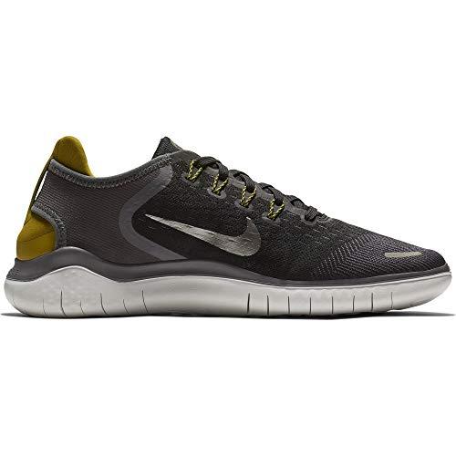 Nike Men's Free Rn 2018 Black/MTLC Pewter-Peat Moss-Thunder Grey Running Shoes-5.5 UK (38.5 EU) (6 US) (942836-009)