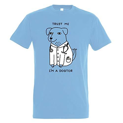 Pampling T-Shirt Dogtor Maglietta Umorismo - Cane Dottore - Meme - Cotone 100% - Serigrafia di Alta qualità.