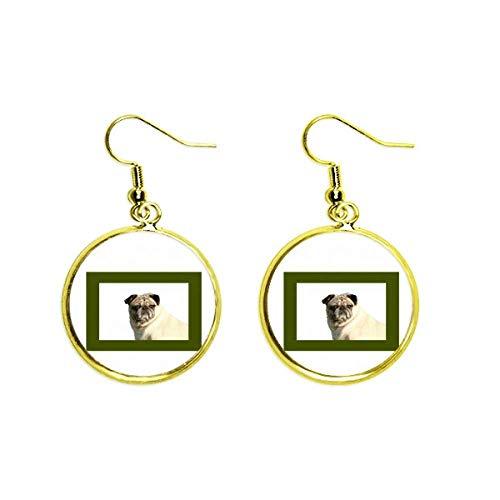 Reloj para perro y mascota borde Art Deco regalo moda pendiente de gota dorada joyería mujer