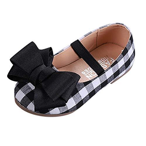 Beladla La Zapatos Zapatilla con Lazo para Niña Princesa Color sólido Fiesta Rhinestone Corona Niños Zapatos Casual Antideslizante Zapatilla Botas Escolares