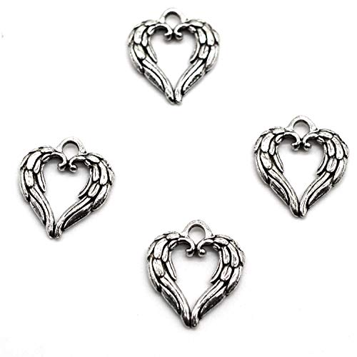 MT 2007 Alloy Charms, Silver Tone Handmade Supply Charms, Handmade Craft, Handmade Jewelry Supply (50PCS JHS291 Heart Charms)