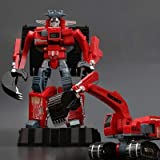 MIRECLE Deformación Juguete Modelo grúa Motocicleta Excavadora niño niños Regalo Robot 25 cm (Color : D)