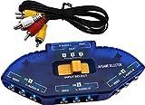 8 Porte Ingresso 1 Uscita Video Audio Interruttore AV RCA Switcher Box selettore (3 Porte)