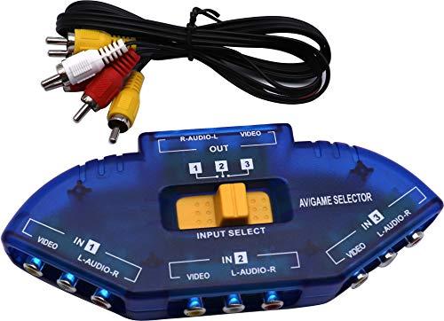 QiCheng&LYS Divisor de cincha con Audio de 3 vías, Caja de conmutación...