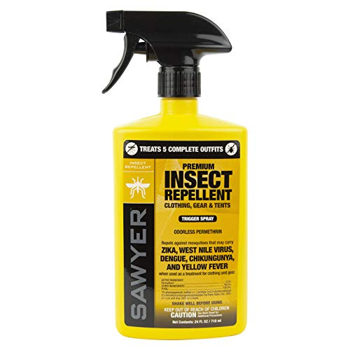 Sawyer Products SP657 Premium Permethrin Insect Repellent for Clothing, Gear & Tents, Trigger Spray, 24-Ounce