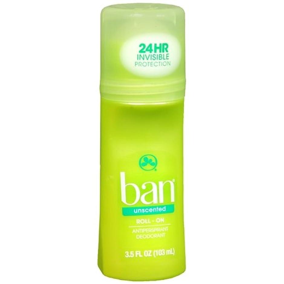アドバイスあいさつ緊急海外直送品 【2個セット】Ban Roll-On Unscented Antiperspirant & Deodorant - 3.5 fl oz (103 ml) 無香タイプ