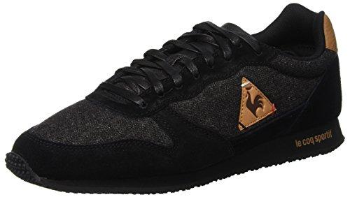 LE COQ SPORTIF Alpha Craft, Zapatillas para Hombre, Negro (Black/Brown Sugar Noir), 45 EU