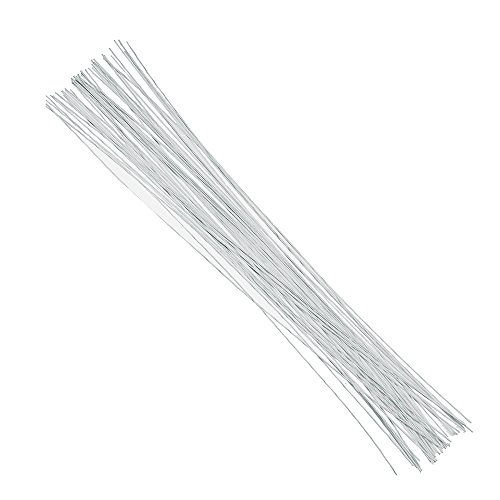 Decora 22 Gauge White Floral Wire 16 inch,50/Package