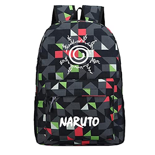 BKHNHUG Anime Hokage Peripheral Pattern Zaino Youth Campus Student School Bag Borsa sportiva per il tempo libero all'aperto-Diamond Black Pattern 3, taglia unica