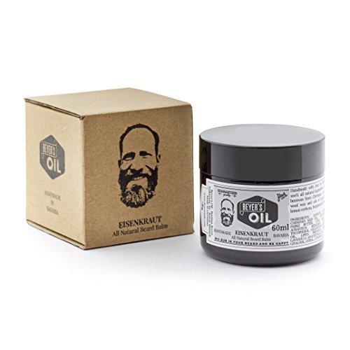 Beyer's Oil Beard Balm Eisenkraut 60ml - Bartpflege Balsam - Handgemacht in Bayern - 100% natürlich - Mit Bienenwachs aus dem Chiemgau - Pflegt die Haut, macht den Bart weich und glatt