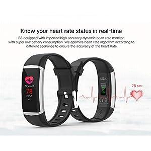 """PRIXTON AT805 - Smartband con Pantalla a Color, Sumergible, GPS, Monitor de Frecuencia Cardiaca, Pantalla a Color de 0,96"""", Negro"""