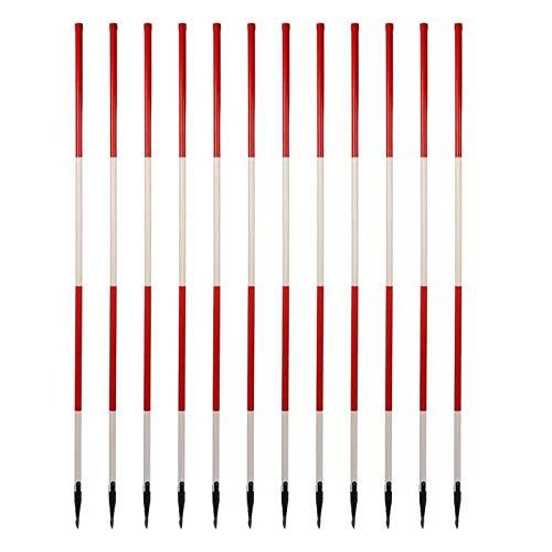 Houten wandelstokken - licht - met drievoudige punt 3-kant (12 stuks)