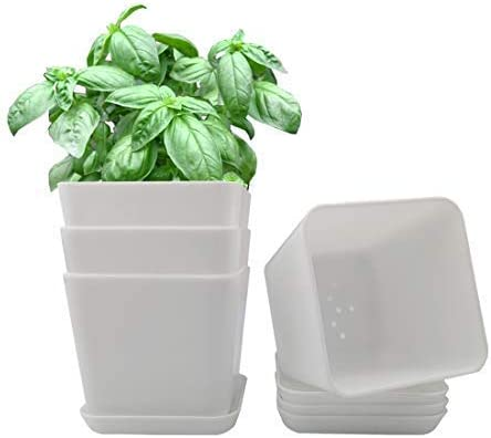 Ukan Max 42% OFF 3.5 inch Plant Pots Drainage online shopping Gardening Plastic with Planter