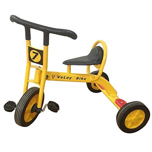 Kinderdriewieler, kinderfiets met 3 wielen, rubberen massieve banden 2-6 jaar oude kinderen en peuters - 90-120 CM frame van koolstofstaal Fiets