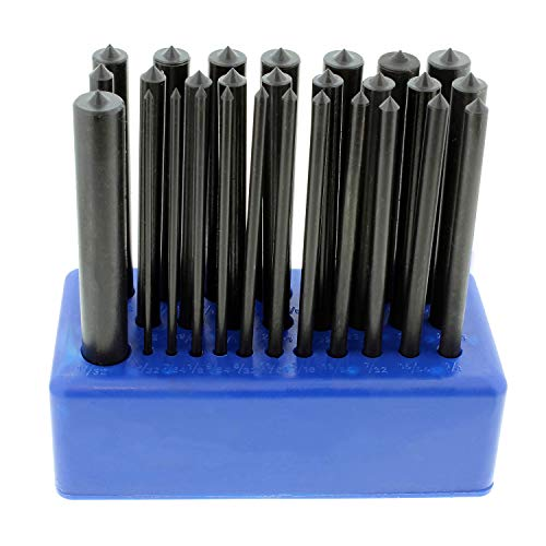 ABN Hole Transfer Punch Set for Steel, Wood, Etc  SAE Transfer Set  28 Piece Transfer Punch Set 3/32 to 17/32in