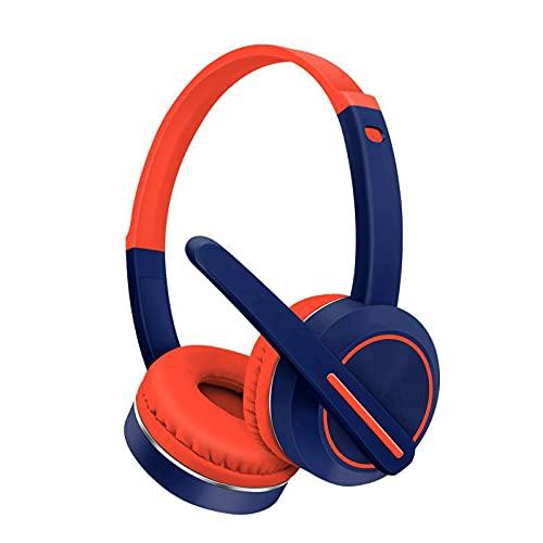Auriculares inalámbricos Bluetooth montados en la cabeza, con micrófono, apto para aprendizaje a distancia en línea, compatible con PC, Xbox One, PS4, conmutador y dispositivos móviles