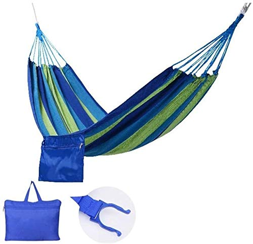 Goquik Camping Hammock Ultra Lightweight Outdoor Travel Hammocks for Garden Multipurpose (Color : Navy)