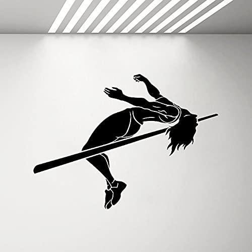Salto atleta puente superior etiqueta de la pared etiqueta de la pared gimnasio hogar arte de la pared decoración extraíble etiqueta mural otro color 57x42 cm
