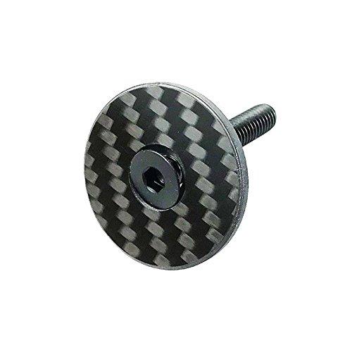 Bouchon de direction A-Head - En carbone - Avec vis en titane - 1 1 / 8' - Verni, Glossy
