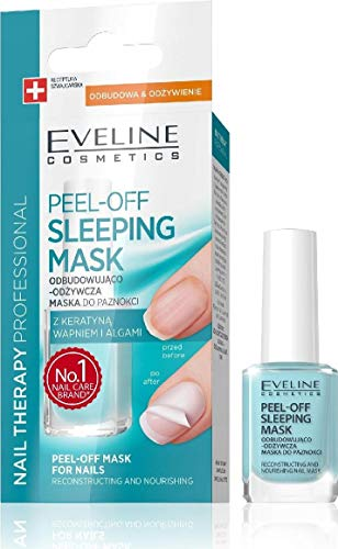 Eveline Abziehen Schlafmaske Augenmaske Sleeping Nagel Rekonstruktion und pflegenden 12ml