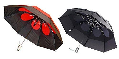 Gustbuster Metro Umbrellas, 2 Pack Black and Grey
