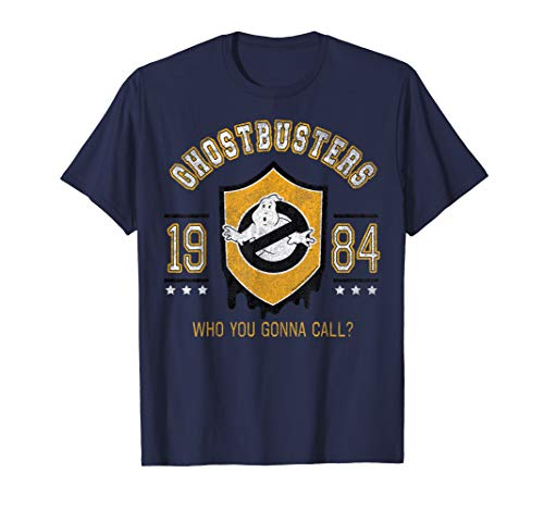 Adults Ghostbusters 1984 Policr Shield Navy T-shirt for Men or Women