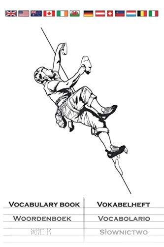 Bouldern Kletternwand Vokabelheft: Vokabelbuch mit 2 Spalten für Kletterfans und Fitnessbegeisterte
