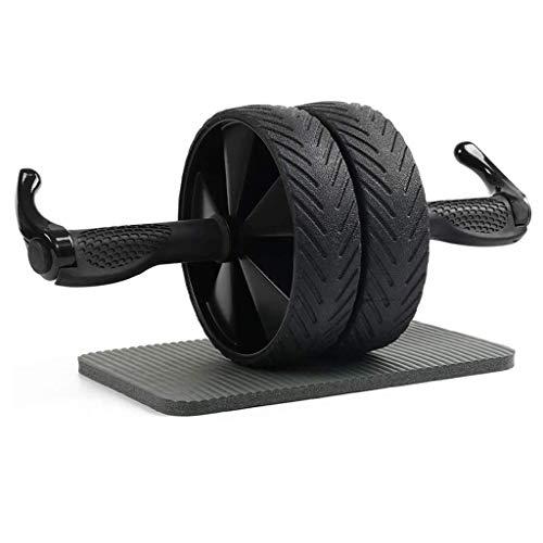 YDHWT Bauchmuskeln Rad Bauch-Übung Roller Rad mit Knie-Auflage-Matte, AB-Rad-Gym Werkzeug, Doppelrad Bauchtrainer Übung Fitness