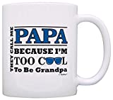 Father's Day Gift for Papa Too Cool to Be a Grandpa Sunglasses Gift Coffee Mug Tea Cup White
