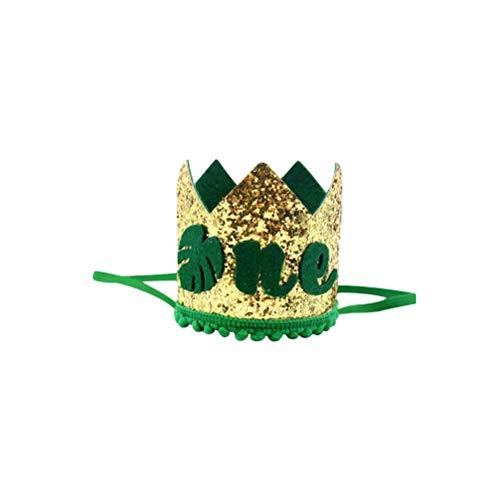 Amosfun EINE erste 1. Geburtstag Krone Hut Karneval Dschungel Motto 1. erste Geburtstagsfeier begünstigt Lieferungen Dekorationen 8 x 8 x 8 cm