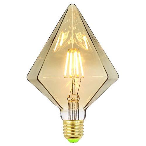 TIANFAN LED-Lampen Vintage Glühbirne 4W LED-Filament Edison-Lampe Spezial dekorative Glühbirne 220 / 240V E27 (Pyramide)