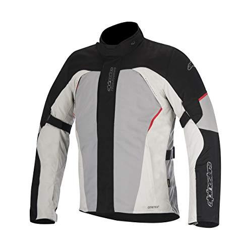 Alpinestars Ares Goretex - Chaqueta para moto, color negro/gris/rojo,...