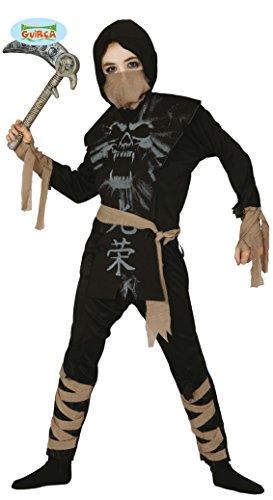 Geister Ninja Kämpfer Kostüm für Kinder Gr. 98-146, Größe:140/146
