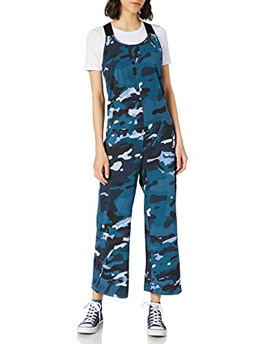 G-STAR RAW Womens Dungaree Allover Jumpsuit, Faze Blue Multi camo C387-C398, XL