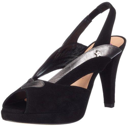 Fornarina Blondie PEFLB7462WS00, Damen Sandalen/Fashion-Sandalen, schwarz, (schwarz 00), EU 37