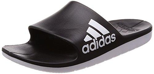 Adidas AQUALETTE CLOUDFOAM Scarpe da Spiaggia e Piscina Uomo, Nero (Negbas / Ftwbla / Ftwbla 000), 40.5 EU