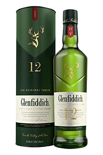 2. Whisky escocés de malta Glenfiddich 12 años