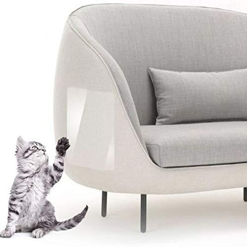 Qagazine Protector de arañazos para gatos, protector de muebles de mascotas para evitar arañazos y arañazos transparente para gatos que protege tus muebles tapizados