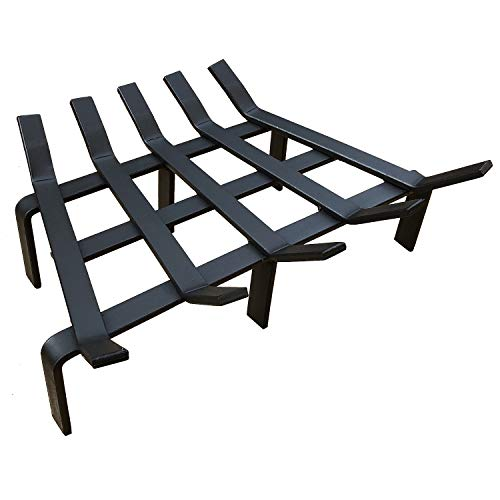 Hi-Flame Fireplace Log Grate - 17 Inch Heavy Duty Reinforced Solid Steel Fire Grate for Wood Burning Stove Firewood Holder, Black